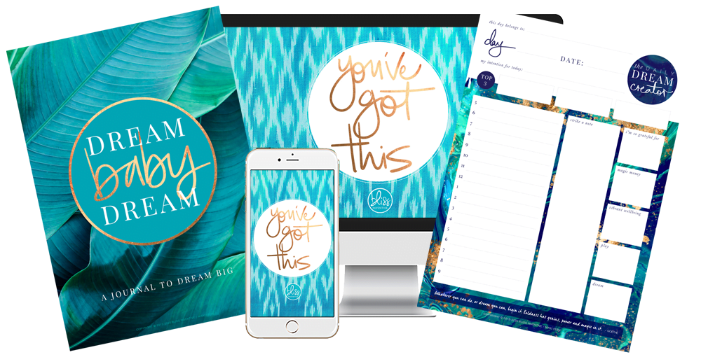 FREE Dream Creator starter pack including printable daily planner, interactive journal + gorgeous wallpapers